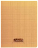 CAHIER PIQ POLYPRO 17X22 48P ORANGE